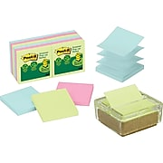 3M Post-it® Glass/Cork Pop-Up Note Dispenser with Notes
